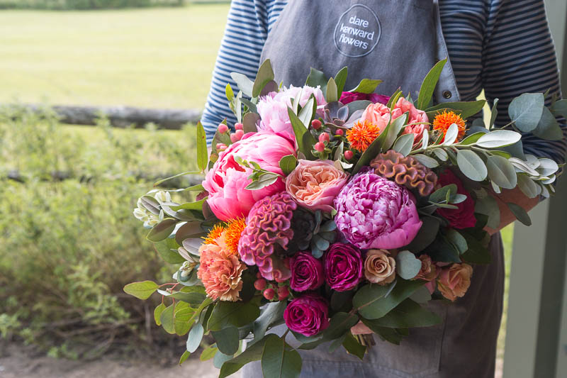 Pink and orange summer bouquet