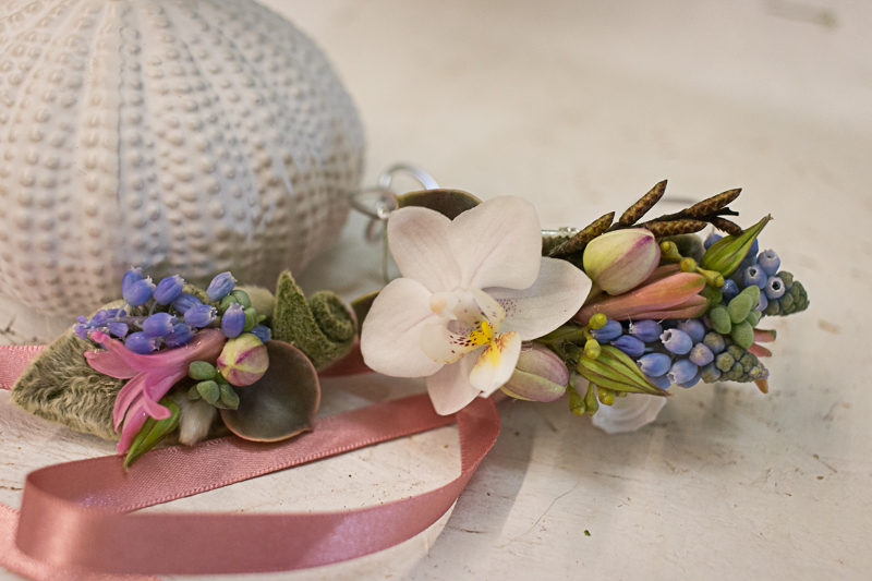 Spring corsage and bracelet